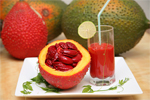 Gac fruit flavor is product by moocos company